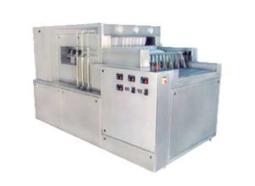 Tunnel rinsing machine